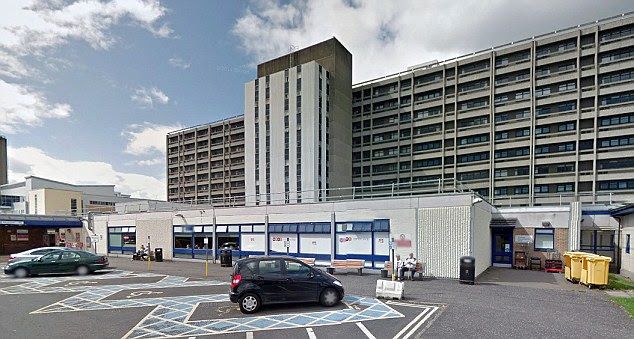 A female health worker who returned from Sierra Leone last night is being treated for Ebola at Glasgow's Gartnavel Hospital (pictured), the Scottish Government confirmed