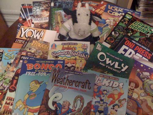 I'm covered in free comics!