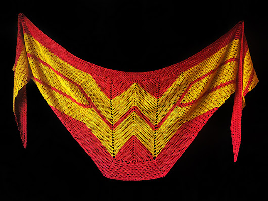 Must-Make Wonder Woman Wrap by Carissa Browning Now Available in Crochet – the Pattern is FREE!