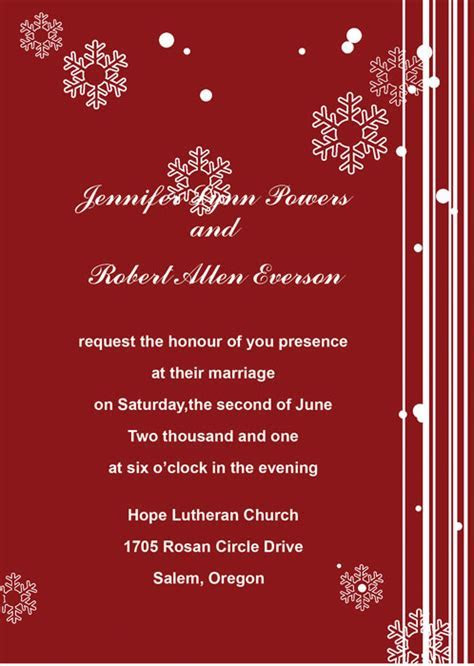 Red Wedding Invitations Online