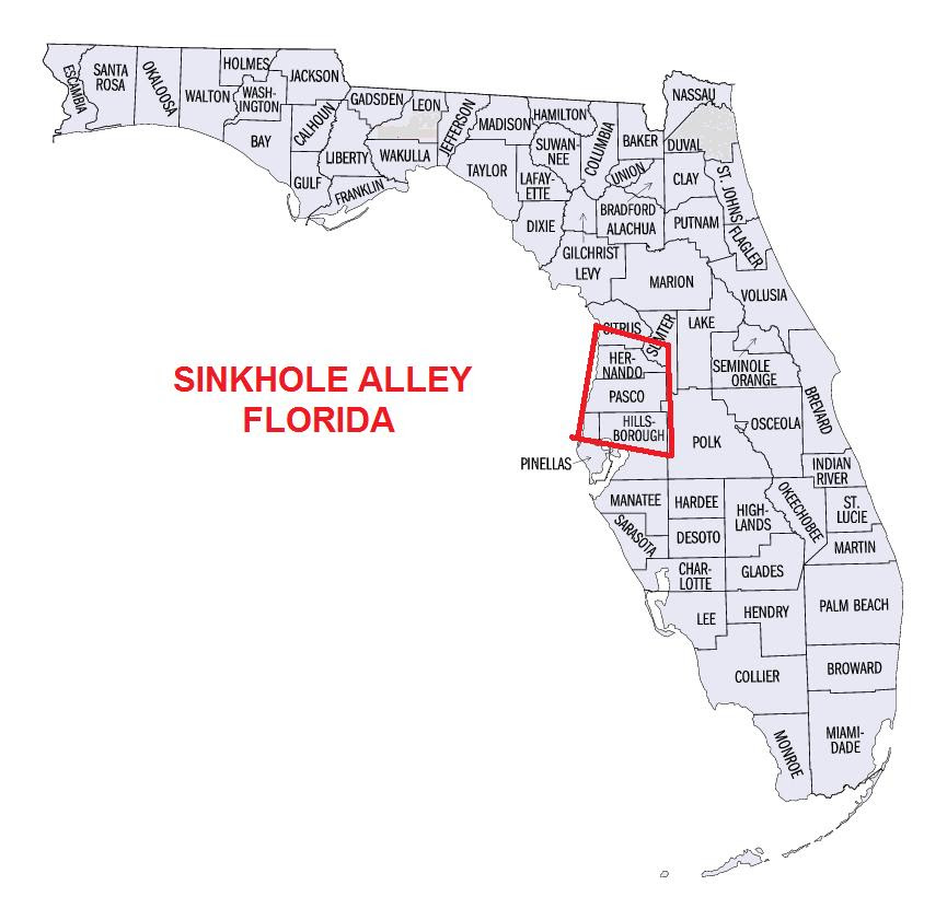 Sinkhole Activity Map Florida | Florida Map 2018