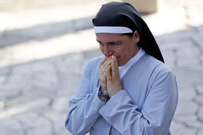 Sister Marjana Lleshi in Ascoli Piceno, Italy, Aug. 25, 2016. Credit: AP Photo Gregorio Borgia.