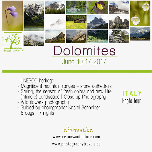 New in 2017 – Italian Dolomites Photo tour