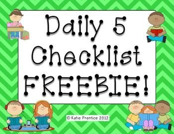 1000+ ideas about Daily 5 Checklist on Pinterest   Daily 5, Daily ...