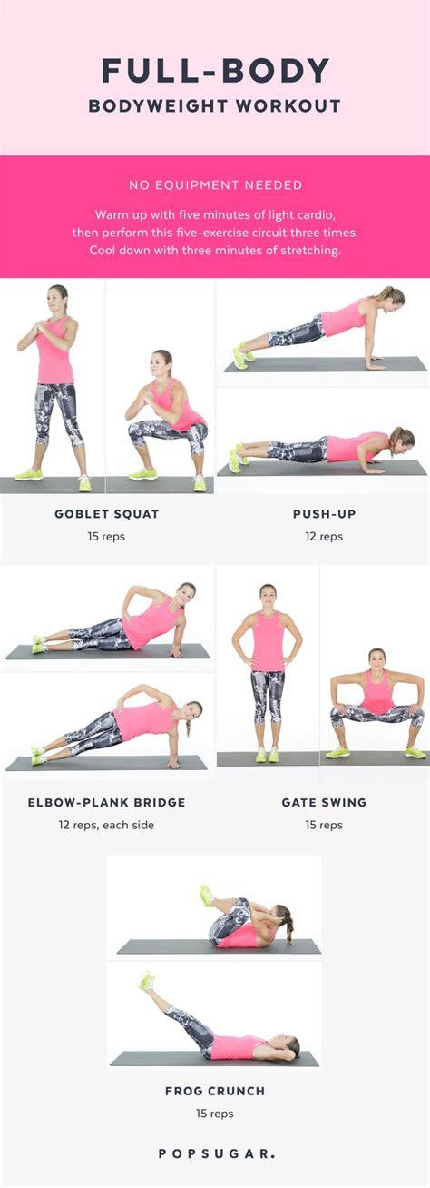 full body bodyweight workout popsugar fitness