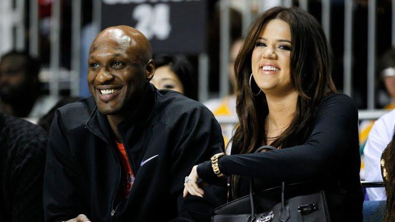 Lamar Odom junto a su esposa Khloe Kardashian