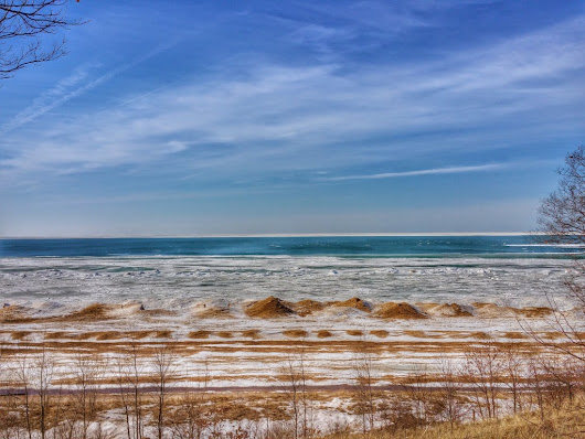 Lake Michigan Winter Nearing End in Southwest Michigan