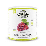 Augason Farms Freeze Dried Red Seedless Grapes (Pack of 12)