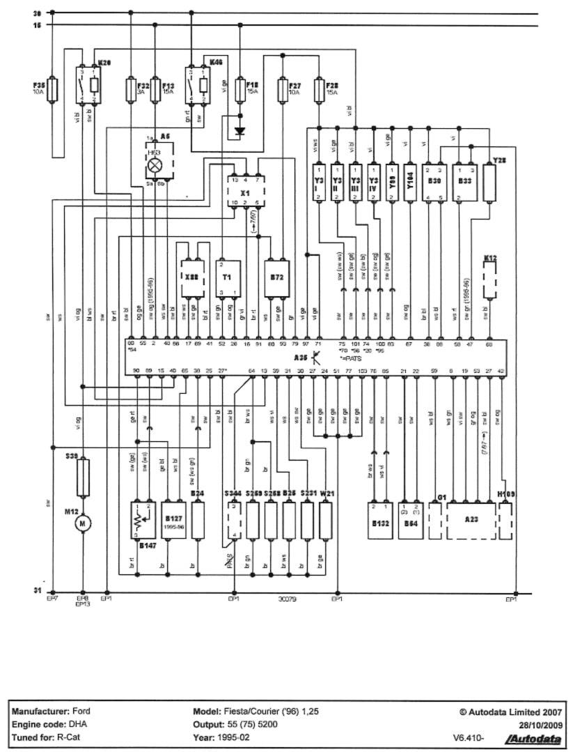 Ford Fiesta 1.25 Zetec Engine Diagram