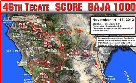 tecate score baja   map  dirt bikes