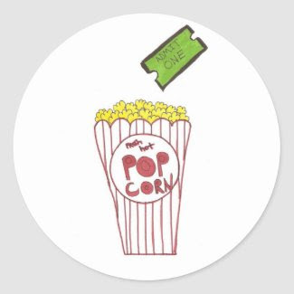 Movie Night Stickers