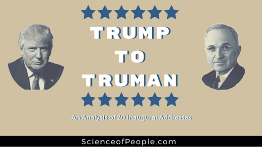 Trump to Truman: An Analysis of 20 Inaugural Addresses - Science of People