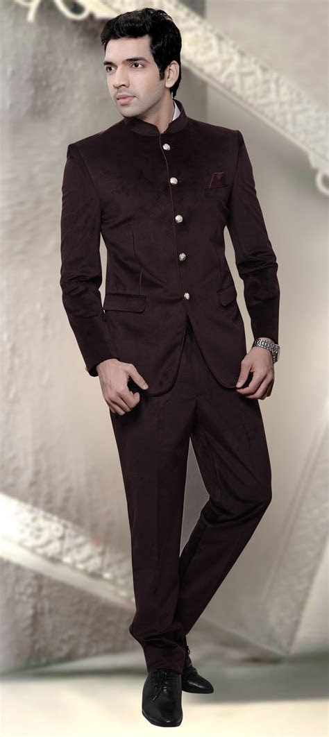506206: Red and Maroon color family stitched Jodhpuri Suit