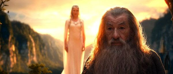 Gandalf seeks the aid of Galadriel (Cate Blanchett) in THE HOBBIT: AN UNEXPECTED JOURNEY.