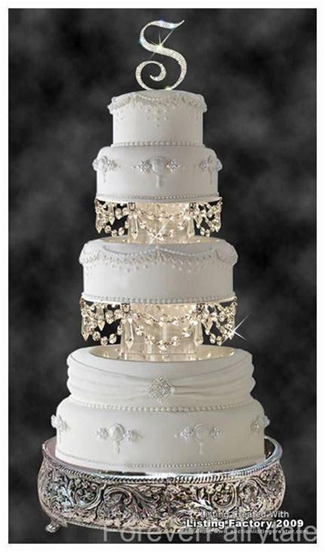 Swarovski Crystal Wedding Cake Tier Separator Set. So