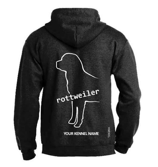 Details about Rottweiler Dog Breed Hoodie, Pullover style, Exclusive Dogeria design