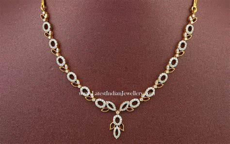 Fancy Indian Diamond Necklace Designs   Wedding