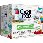 Cape Cod Reduced Fat Variety Pack, Kettle Cooked Potato Chips Seaside Sampler, 0.75 oz 24 Count