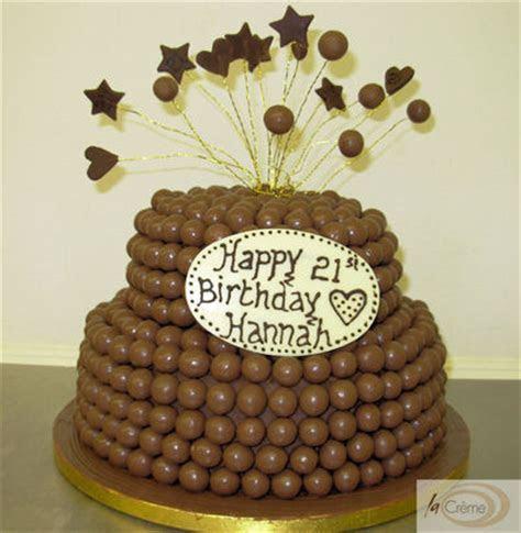 Chocolate Malteser 21st Birthday Cake   La Creme