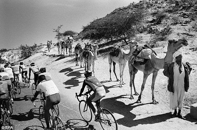 The Eritrean national cycling team