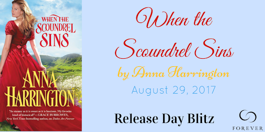When The Scoundrel Sins by Anna Harrington (Interview + Review + Giveaway)