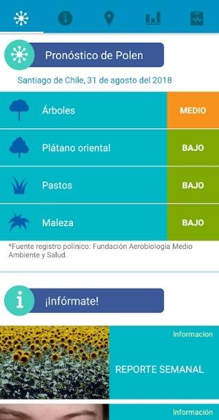 ¿Eres alérgico? Aplicación chilena te dice el nivel exacto de polen que hay en un lugar