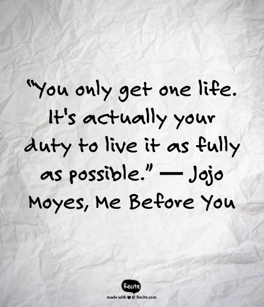 """Me Before You"" by Jojo Moyes"