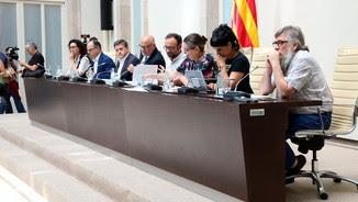 Els ponents de l'acte de presentació de la Llei del Referèndum (ACN)