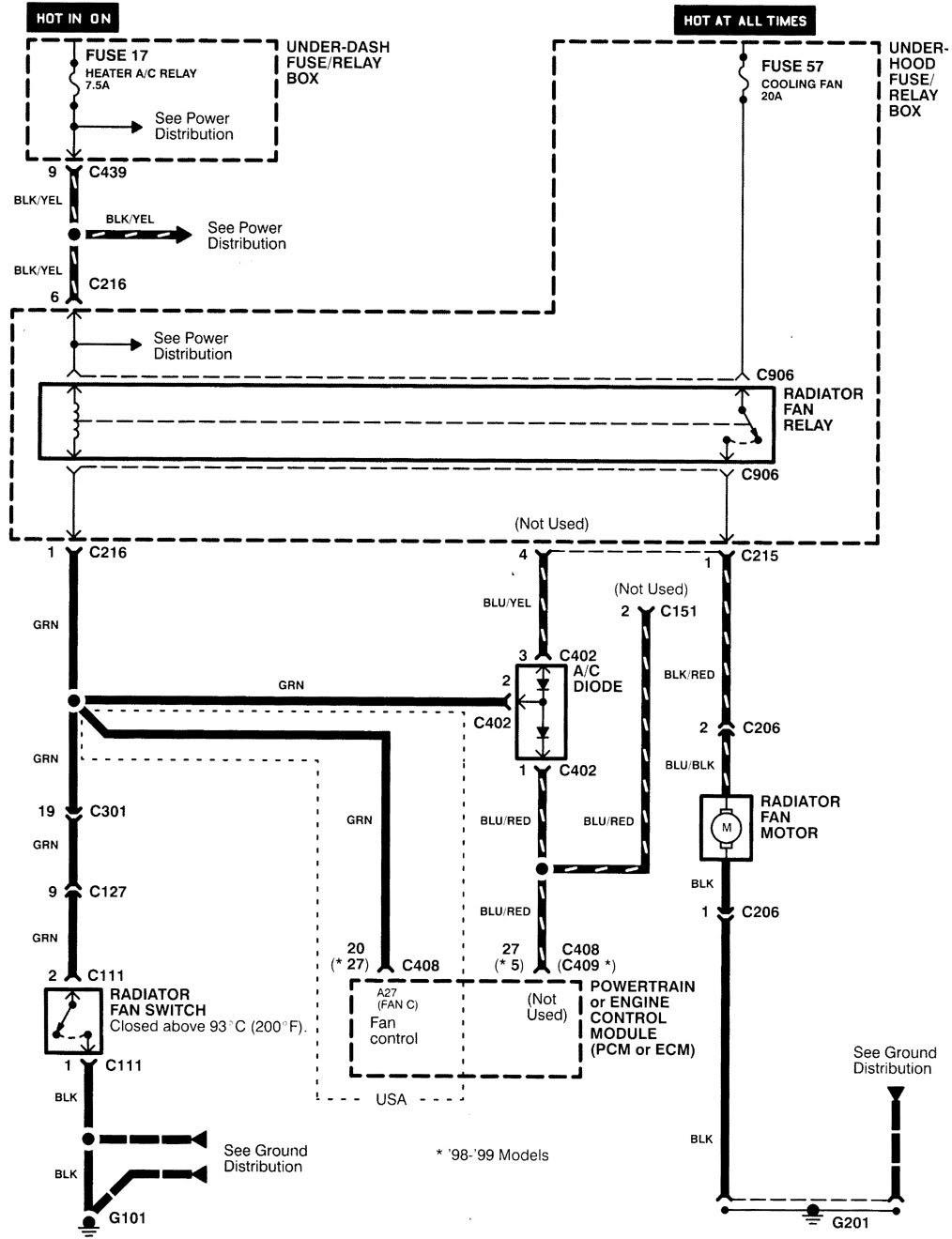 1994 Gsr Wire Harnes Schematic