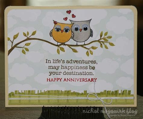 Anniversary Card (Stamping & Copics)   WORDS OF WISDOM