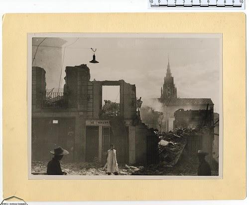 """Toledo en plena Guerra Civil. """"Archivo Rojo"""". Ministerio de Cultura. Foto Albero y Segovia"""