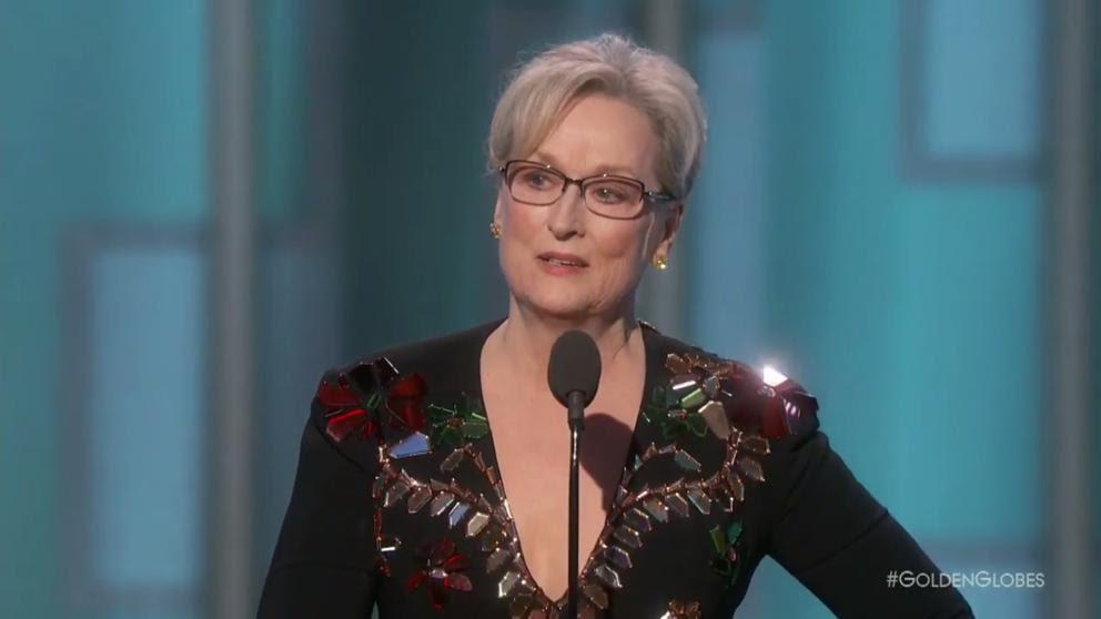 Meryl Streep lanzó dardos a Donald Trump en su discurso en los Globos de Oro