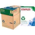 "Staples Multipurpose Paper, 8.5"" x 11"", White - 500 sheets"