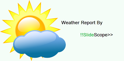 Weather Reporting APP by Slidescope