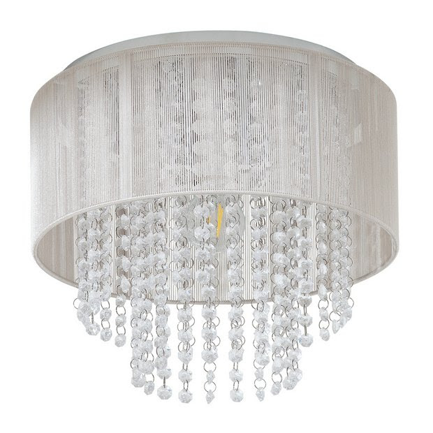Buy Argos Home Siena Flush To Ceiling Light Chrome Ceiling Lights Argos