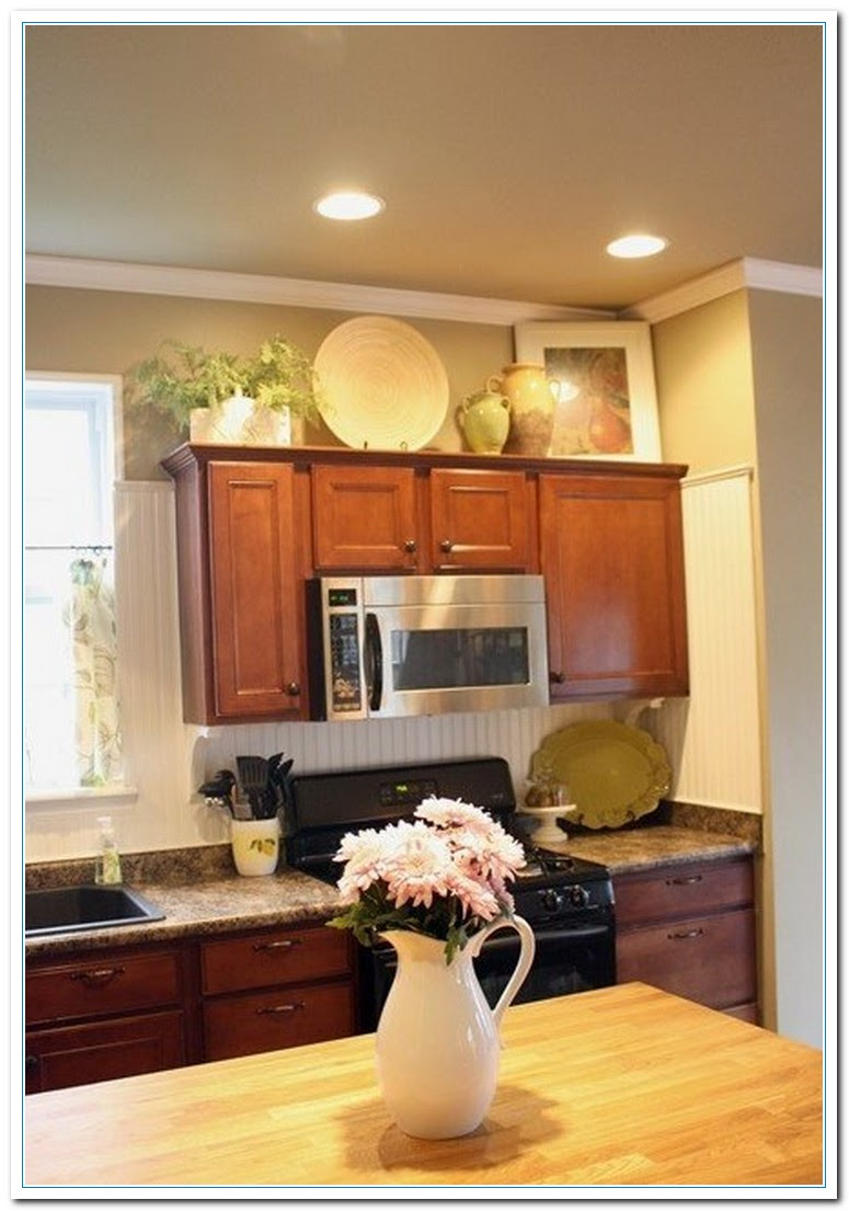 5 Charming Ideas for Above Kitchen Cabinet Decor  Home and Cabinet Reviews