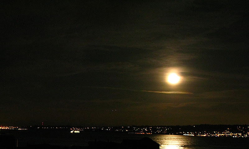 whidbey island full moon rising