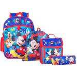 Disney Mickey Mouse Nio 40.6cm Mochila Y Vuelta AL Cole Essentials 5 Piezas Set
