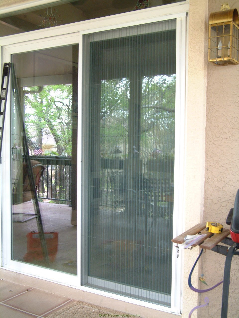 Plisse Sliding Glass Retractable Door Screens ...