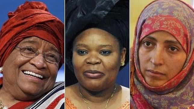 El Nobel de la Paz premia a tres defensoras de los derechos de la mujer