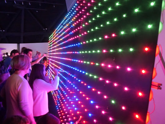 "Digitally ""Paint"" a Wall of 2,500 LEDs with Actual Brushes 