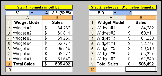 Pasting a Formulas Static Value in Cell Below
