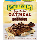 Nature Valley Soft-Baked Oatmeal Squares, Banana Bread & Dark Chocolate - 6 count, 7.44 oz box