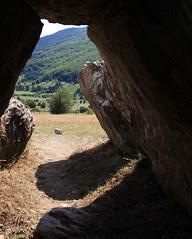 Dolmen de Arrako desde dentro