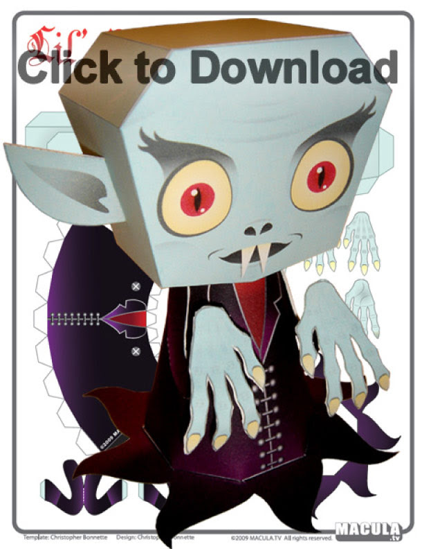 Blog Paper Toy papertoy Nosferatu pic Nosferatu le vampire by Macula.tv