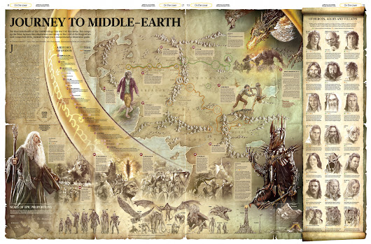 Journey to Middle-Earth | Visual.ly