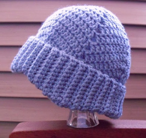 Bluebell Ripples Crochet Hat by TheCreativeHatRack on Etsy