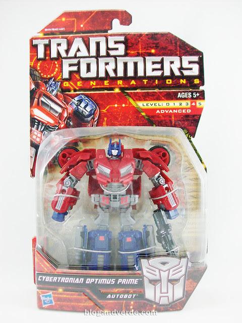 Transformers Cybertronian Optimus Prime Generations Deluxe - caja