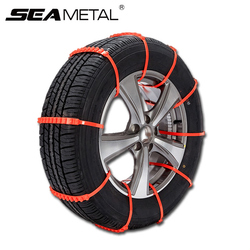 10pcs Car Tire Snow Chains Auto Winter Tires Mini Plastic Tyres Wheel Chain Autocross Automobile