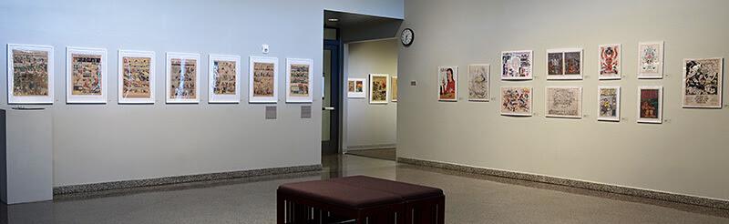 Newsprint exhibition installation